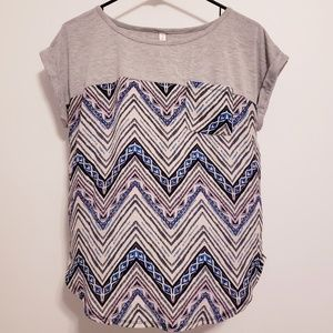Chevron Grey/Blue/Purple Shirt